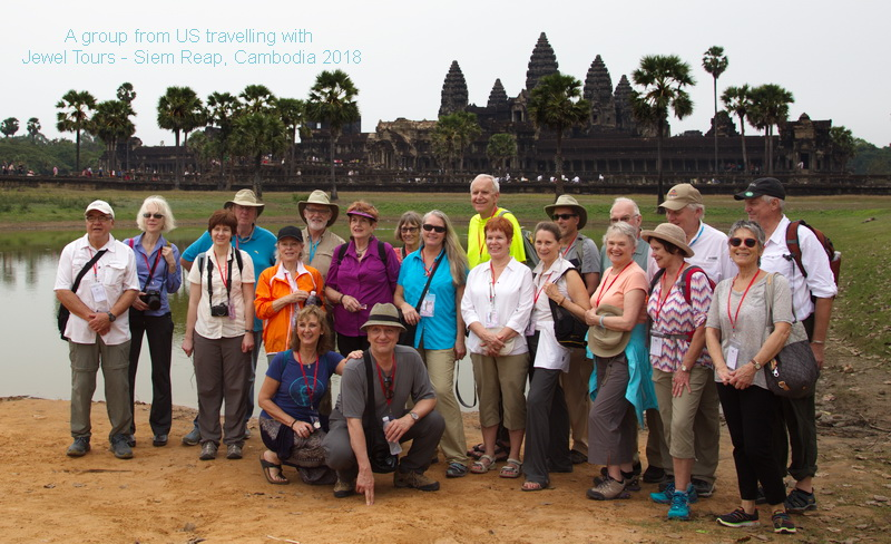 Jewel Tours Clients in Siem Reap, Cambodia