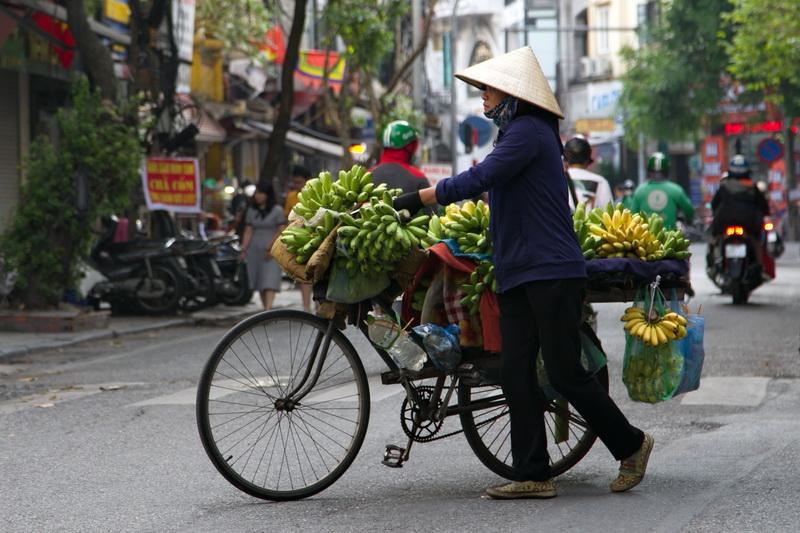 Banana vendor in Hanoi